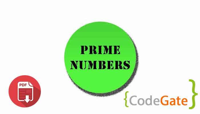 pdf آموزش عدد اول در جاوا (Prime Number)