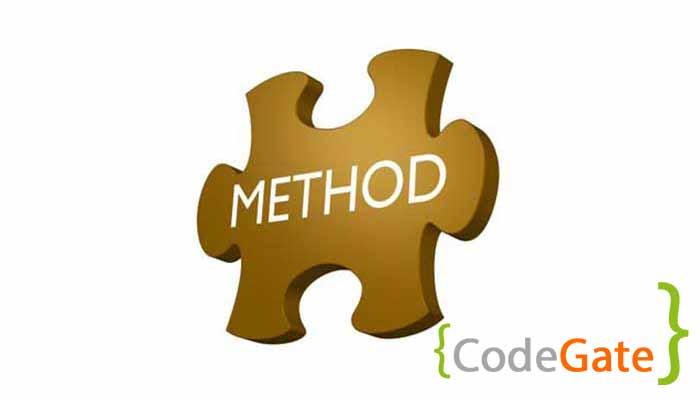 متد در سی شارپ (method implementation in c sharp)