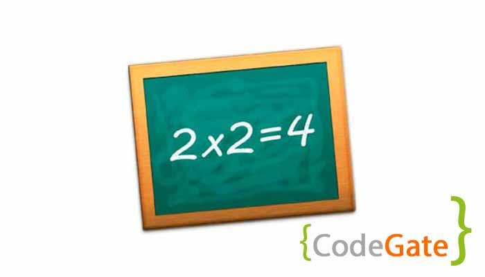جدول ضرب در سی شارپ (multiplication table)