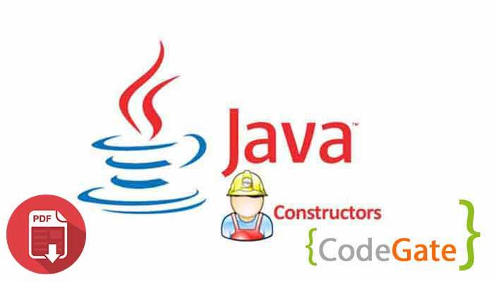 pdf آموزش Constructor در جاوا (Constructor in Java)