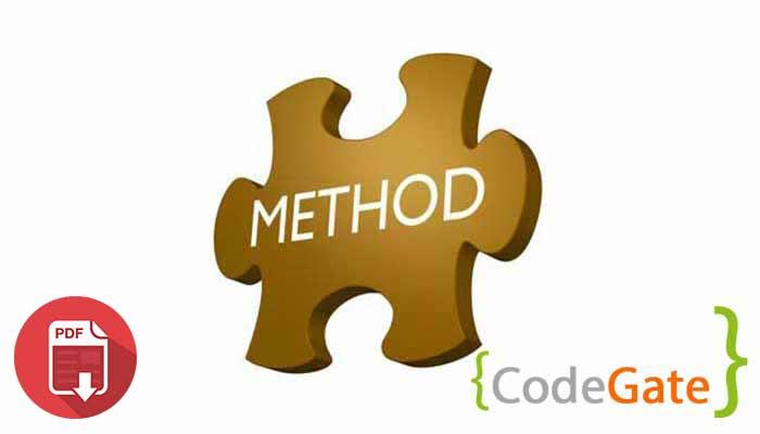 pdf آموزش متد در جاوا (Method in java)