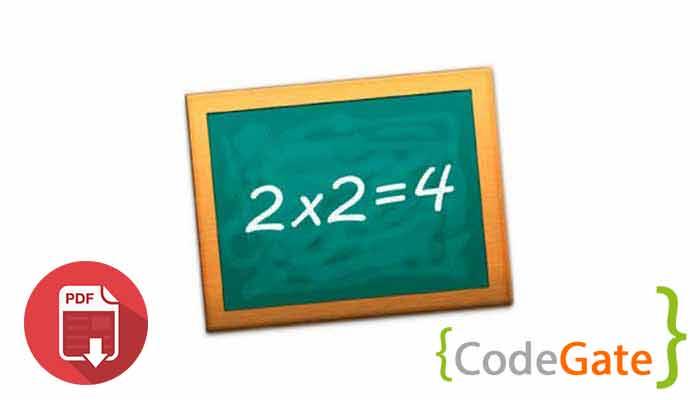 pdf آموزش جدول ضرب در جاوا (Multiplication Table)