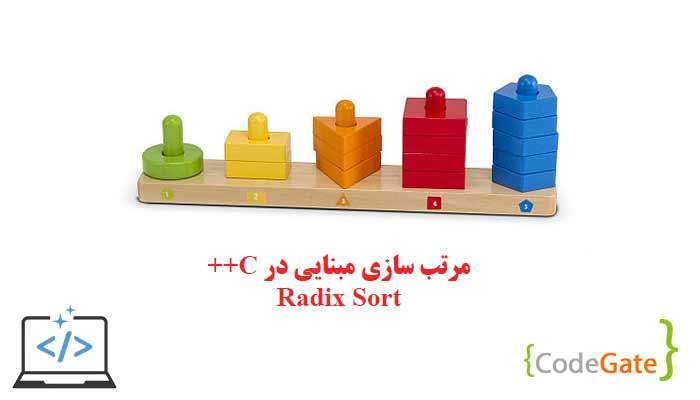 دانلود سورس مرتب سازی مبنایی در سی پلاس پلاس (Radix Sort)