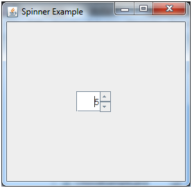 JSpinner در جاوا