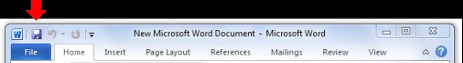 ذخیره فایل ورد