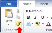 کپی کردن قالب بندی متن در ورد